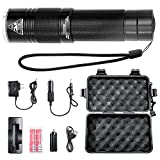 Led Military Tactical Flashlight 800 Lumens Use 18650 Rechargeable Battery or aaa for Adults and Child , Lightweight Portable Handheld Flashlights 3 modes IPX7 Waterproof for Outdoor Travel