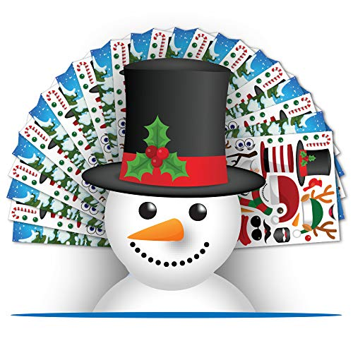 Colonel Pickles Novelties Make A Snowman Sticker Kits Fall Christmas Crafts for Kids – DIY Supplies