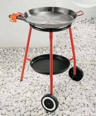 Garcima Andreu jardín Paella Set - 46 cm de acero pulido paellera/400 mm clásico quemador de gas: Amazon.es: Hogar