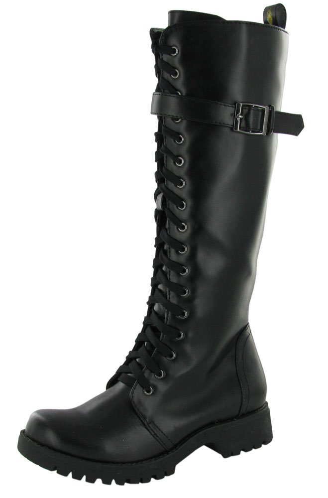 Volatile Women's Boot Camp Combat Boot B007NLZ1O4 7.5 B(M) US| Midnight Black
