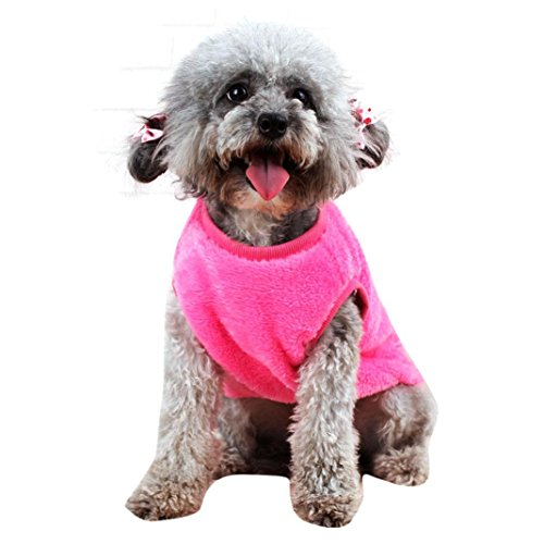 [Elevin(TM)Hot Cute Pet Puppy Dogs Coat Jumpsuit Soft Warm Rabbit Pajamas Clothes Costume (XL, pink)] (Cute Puppies Costumes)