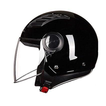 YSH 1814/5000 Casco De Moto Ppen Face Casco De Moto con Cascos De Media