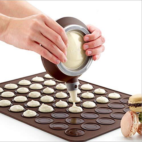 Silicone Macaron Kit Baking Mold Set of Pastry Baking Mat and Decorating Piping Pot with 4pcs Nozzles-Crystallove