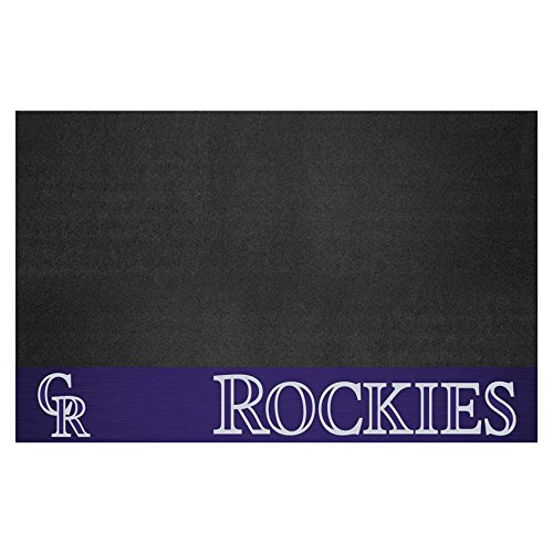 Fanmats 12152 MLB Colorado Rockies Vinyl Grill Mat by Fanmats
