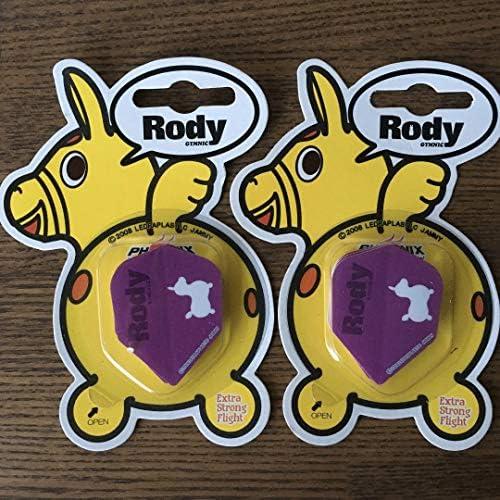 2セット ダーツ Rody ローディー 紫 折りたたみ 紙フライト
