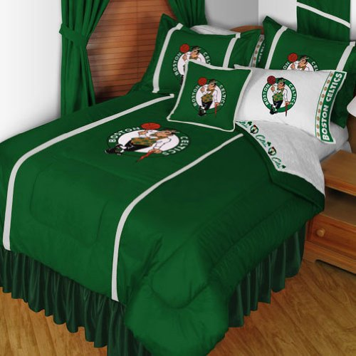 NBA Boston Celtics King Comforter Set Basketball Logo Bed by NBA