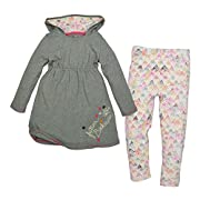 Burt's Bees Baby Baby Girls' Organic Top and Pants Set, Dried Leaf Heather, 0-3 Months