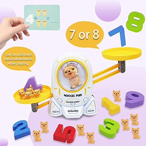 XUNPAS Math Educational Games, Learning Toys Games for Kids Ages 3 4 5 6 7 +Year Old and Up, Stem Preschool Activities Teaching Counting Learning Tool Games for Kindergarten Toddler Boys & Girls