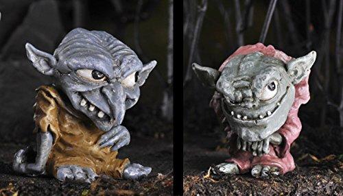 Bundle of 2 Fiddlehead Fairy Garden Miniature Trolls