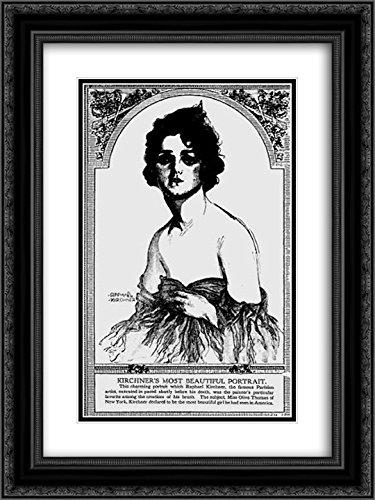Raphael Kirchner 2x Matted 18x24 Black Ornate Framed Art Print 'Olive Thomas, The Pittsburgh - Pittsburgh Galleria