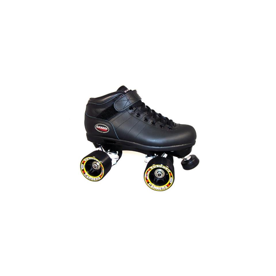 Riedell Carrera Black Mens Boys Ladies Womens Girls Kids Childrens Youth Quad Speed Roller Skates