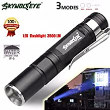 Sky Wolf Eye Mini 3500 Lumens Zoomable LED Flashlight Super Bright Light Lamp Torch for Home and Outdoor