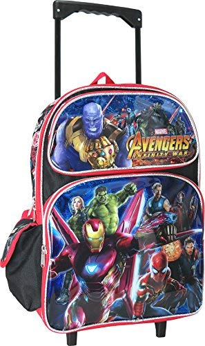 Avengers Infinity War 16 inches Large Rolling Backpack]()