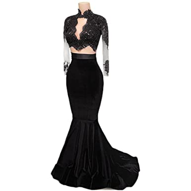 Jdress Womens Long Sleeve Evening Dress Plus Size Mermaid Prom Dresses 2017