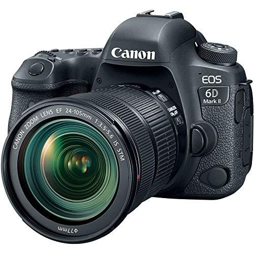"Canon EOS 6D MK II – Cámara digital réflex de 26.2 MP (pantalla táctil de 3.0"", Wifi, Bluetooth, Dual Pixel CMOS AF…"