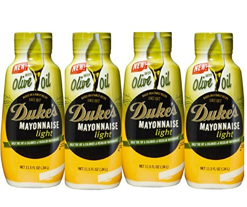 Duke's Light Mayonnaise with Olive Oil, 11.5 fl oz ( Pack of 4 )