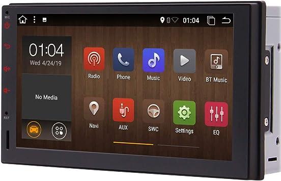 Android 10.0 Q Car Stereo 2 din Head Unit 7 Pulgadas Pantalla táctil capacitiva Double Din