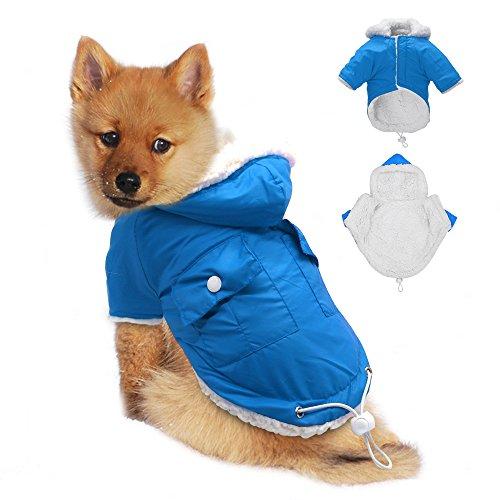 Windproof Waterproof Cold Weather Dog Coat - Doggie Puppy Vest Warm Pet Ski Jacket - Dog Apparel for Medium 11