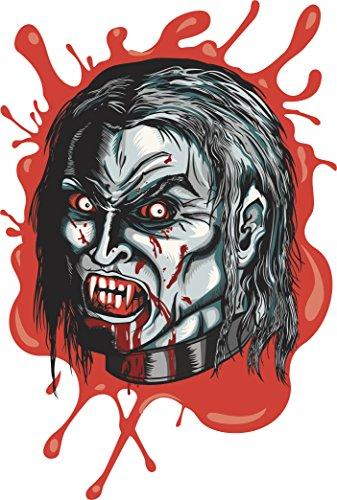 Scary Bloody Zombie Halloween Cartoon Icon Vinyl Decal Sticker (4
