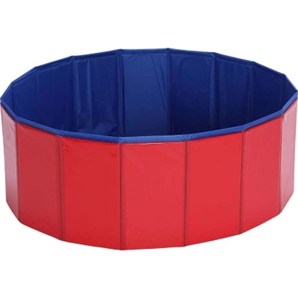 Dog Bath Tub Pet Folding Tub Golden Retriever Bath Barrel Large Dog Special Bathtub Swimming Pool Bath Barrel80*20Cm,Red,80 * 20Cm [Energy Class A] Terry king