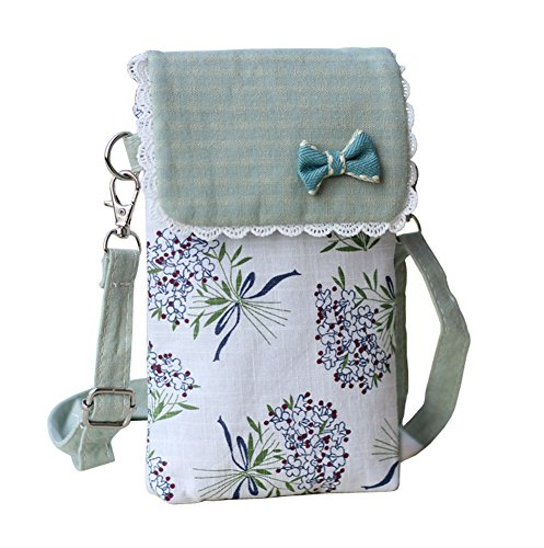 Toniker Cute Cotton Small Phone Crossbody Bag Mini Shoulder Bag Messenger Bag Cell Phone Purse for Girls from Toniker