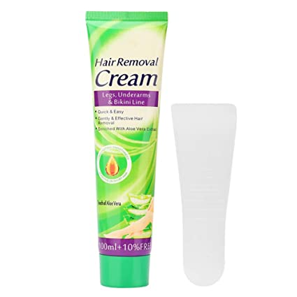 Crema depilatoria de la pierna de la mano del retiro del pelo de ...