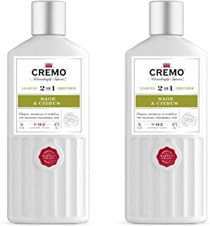 product image for Cremo Barber Grade Sage & Citrus 2-in-1 Shampoo & Conditioner, 16 Oz (2-Pack)