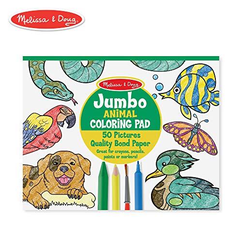 Melissa & Doug Jumbo Coloring Pad - Animals -