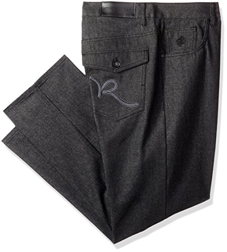 Rocawear Men's R Pocket Script Jean, Raw Black/Grey, 44 ()