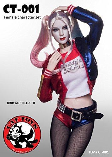 Joker Costumes Female (STERLING 1/6 CT-001 Joker Girl Costume & Female Head Set)