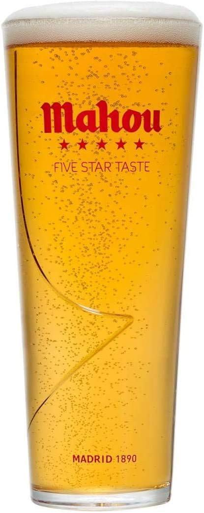 TUFF LUV Mahou – Vaso de cerveza nucleada – pinta 20 oz (57 cl)