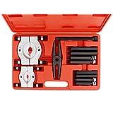 ABN Bearing Separator Set, 5-Ton Capacity – Bar-Type Bearing Splitter, Gear Puller, Fly Wheel Separator 12-Piece Kit