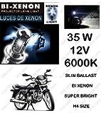 Volga Hid Xenon Head Light Kit For Hero Splendor Pro H4 6000K Slim Ballast Super Bright