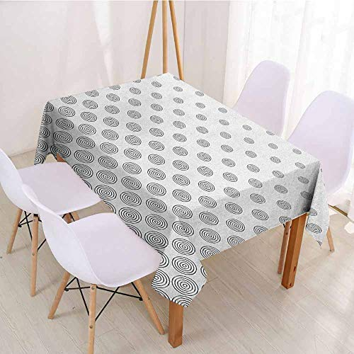 ScottDecor Rectangular Polyester Tablecloth Fabric Tablecloth W 60