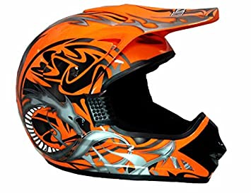 WinNet - Casco de motocross y quad, homologado, color naranja L arancio