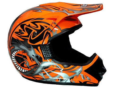 Amazon.es: WinNet - Casco de motocross y quad, homologado, color naranja L arancio