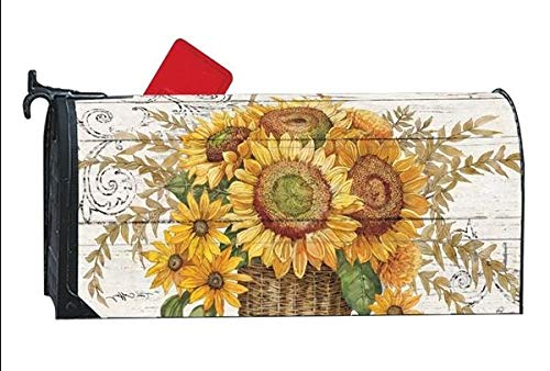 Farmhouse Sunflower MailWrap Magnetic Mailbox Wrap Cover