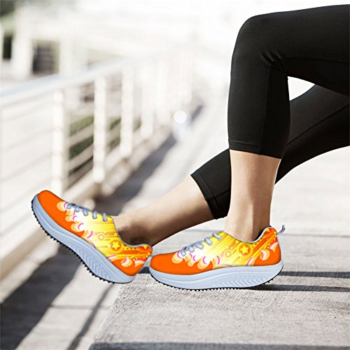 Color ThiKin Slimming Shoes Pattern Swing Platform Women's 6 Colorful B8rnO68