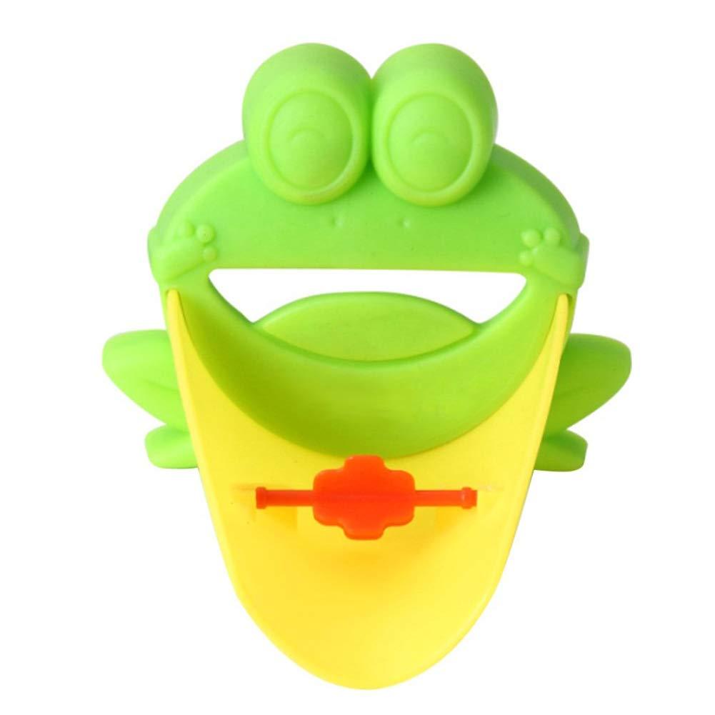 Ruiting Extension de Robinet Extender pour Enfant Frog Robinet Extender pour Lavage des Mains Extender Lavabo Grenouille