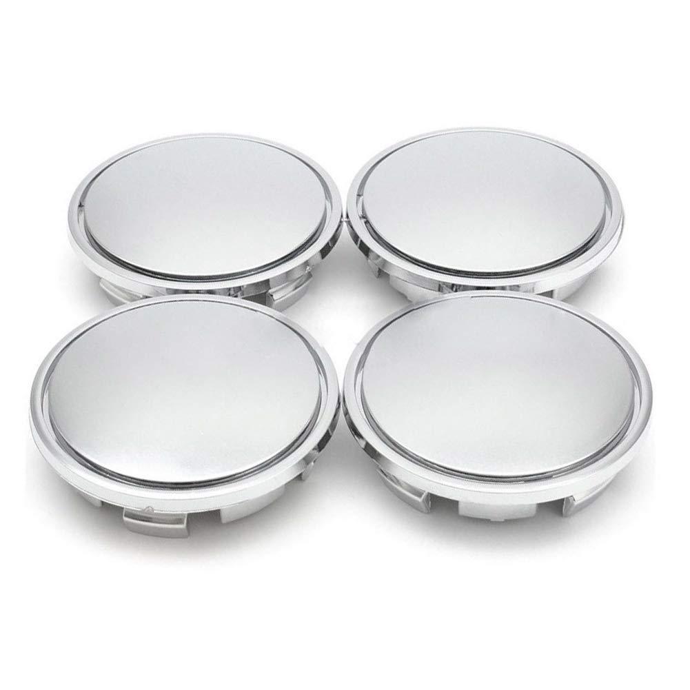 4 coprimozzi cromati per Cerchioni Auto ABS Plastic Ajboy 6.5 * 6.5CM in plastica ABS Universale
