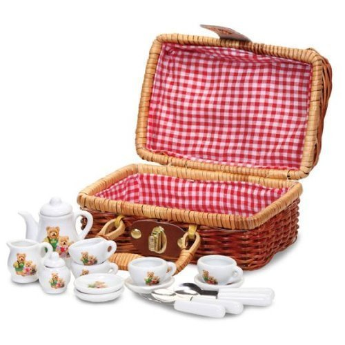 Tobar Teddy Bear'S Picnic - Child'S Teddy Bear Family Mini Tea & Picnic Set For Chi...