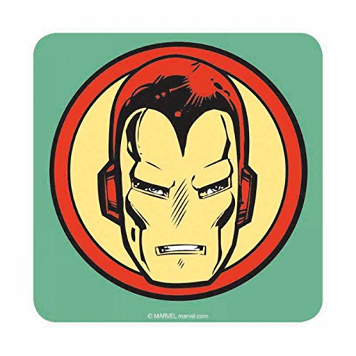 Iron Man Coaster Iron Man Helmet Logo Official Marvel
