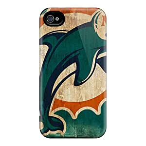 Iphone High Quality Tpu Case/ Miami Dolphins MosWcLJ5804yRVtE Case Cover For Iphone 4/4s