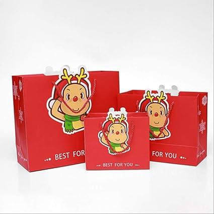 12 bolsas de regalo rojas - bolsa de cumpleaños de dibujos ...