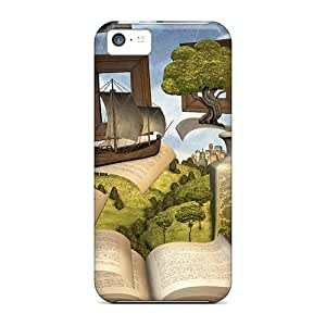 High-end Case Cover Protector For Iphone 5c(lost In A Book)