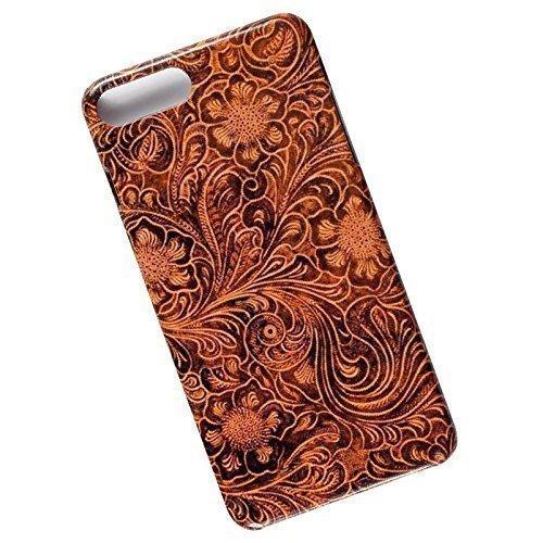 Slim Phone Case for iPhone 7 Plus, 8 Plus. Tooled Leather Look.