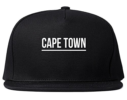 Kings Of NY City Of Cape Town Simple Underline Snapback Hat Cap Black