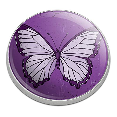 GRAPHICS & MORE Butterfly Artsy Purple Golfing Premium Metal Golf Ball Marker
