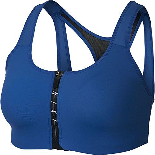 Nike Shape Zip Sports Bra Womens Bra Size Small Fitness/Workout Blue Jay/Black/White/Black
