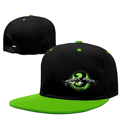 KK Rock band Daughtry classic logo print Snapbacks Fitted Hats KellyGreen